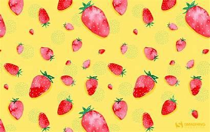 Desktop Chic Strawberry Wallpapers Computer Boho Background