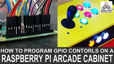 raspberry pi arcade cabinet uk program gpio controls on a diy raspberry pi arcade cabi