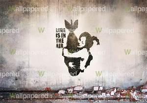Banksy Bomb Shell wall mural   Banksy Wallpaper