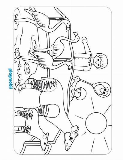 Playmobil Zoo Coloring Sheet