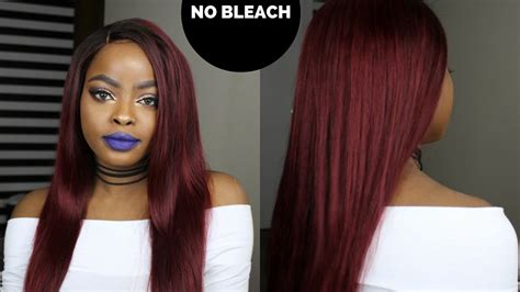 How To Dye Your Hair From Dark To Red Without Bleach