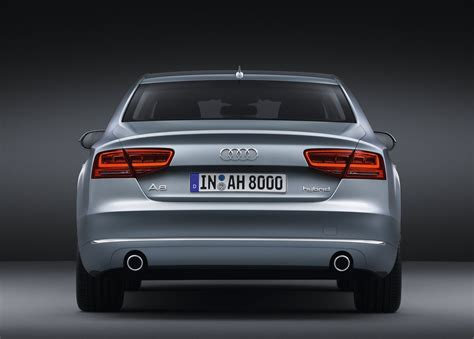 rear view audi a8 hybrid rear view car pictures images