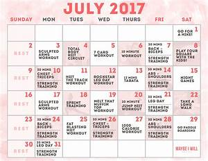 July Workout Schedule - Maybe I Will