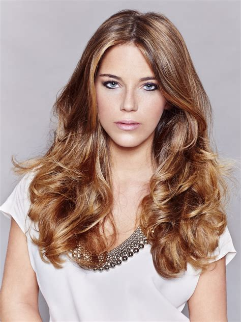 classic long hairstyle for dark blonde hair with lighter