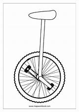 Coloring Unicycle Sheet Miscellaneous Sheets Pages Megaworkbook Misc sketch template