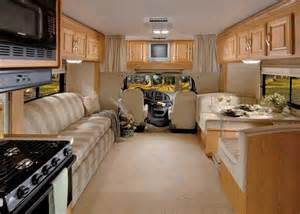 RV Class C Motorhome Interior
