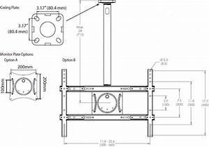 ergotron 60 842 223 neo flex ceiling mount With tv mount wiring kit