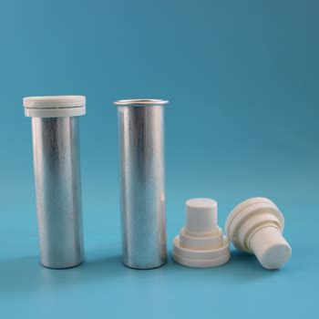 The metallic and suede finish gives it a touch of elegance. 28mm Aluminum Effervescent Tablets Tube Bottle With ...