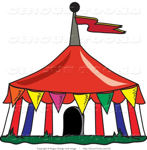 Circus Tent Clip Circus Clipart Of A Colorful Triangular Flags Around A Big