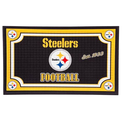 steelers kitchen accessories evergreen pittsburgh steelers 18 in x 30 in embossed 2507