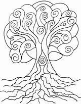 Spiral Coloring Pages Tree Drawing Line Hamsa Adult Creative Sketch Printable Colouring Celtic Wordpress Getcolorings Getdrawings Print sketch template