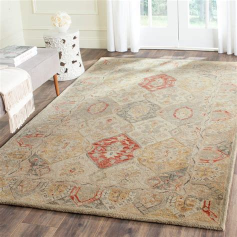 5 8 Area Rugs by Safavieh Antiquity Beige Multi 5 Ft X 8 Ft Area Rug
