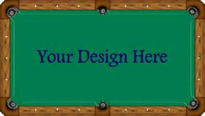 Pool table felt by championship simonis proline custom for Custom pool table felt designs