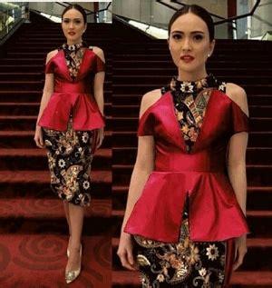 baju batwing rok lilit baju dress kebaya modern cantik terbaru murah