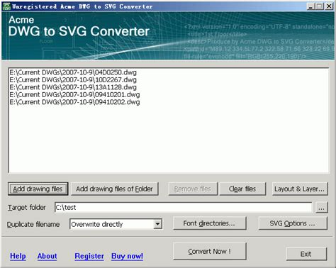 I am trying to find a way to convert a web svg graphic to dfx or dwg using the server to automate the process. Acme DWG to SVG Converter 6.2 Free Download