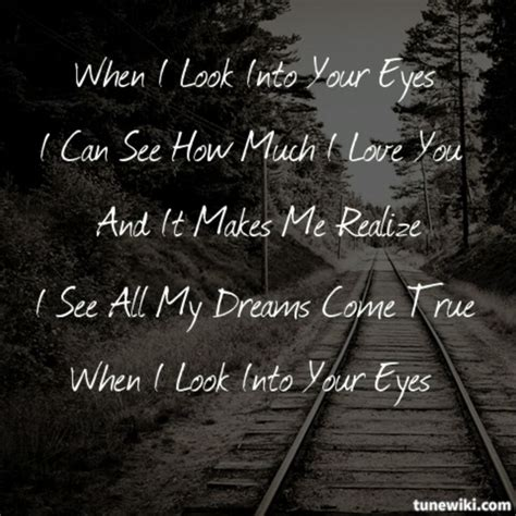 When I Look In Your Eyes Quotes