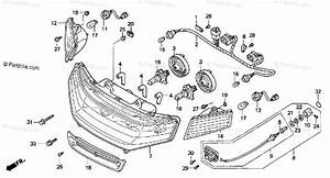 Honda Motorcycle 1999 Oem Parts Diagram For Headlight