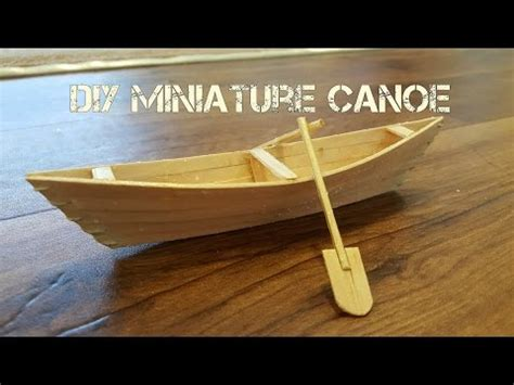 How To Make A Paper Boat Mini by Diy Miniature Canoe