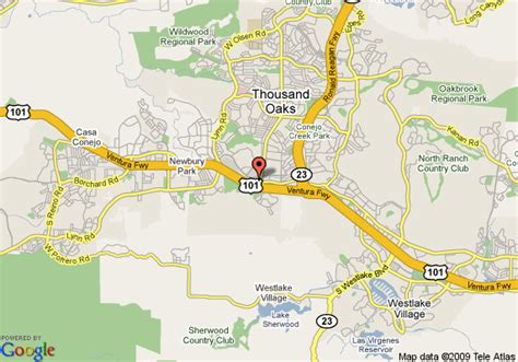 map of quality inn and suites thousand oaks thousand oaks