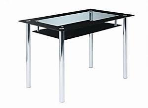 Glasplatten Für Tische : glastisch tisch esstisch esszimmertisch k chentisch glasplatten ablage schwarz klarglas ~ Orissabook.com Haus und Dekorationen