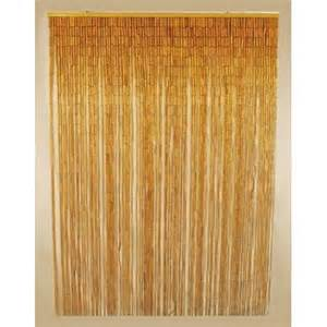 natural bamboo beaded curtain hanging doorway screen