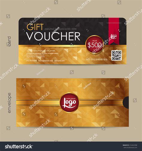 gift voucher template premium pattern envelope stock