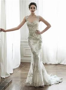 gorgeous mermaid queen anne neckline backless applique With queen anne wedding dress