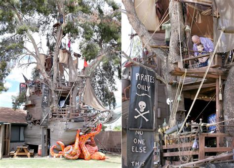 pirate ship themed treehouse  casa grande