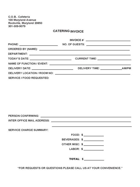 Catering Invoice Template - 3 Free Templates in PDF, Word
