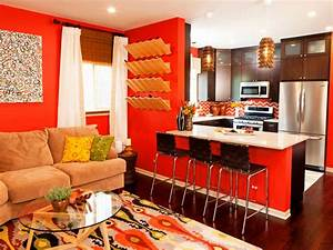 19 orange living room designs decorating ideas design for Kitchen colors with white cabinets with hand drawn wall art