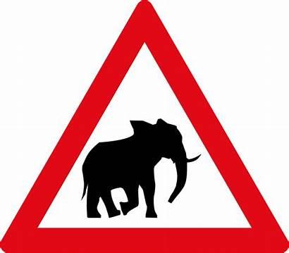 Sign Road Elephant Svg Signs Sadc W357