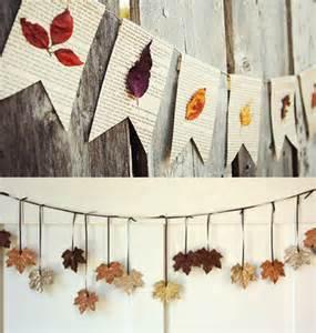 wandgestaltung ideen farbe herbstdeko basteln mit bäume blättern freshouse