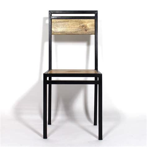 chaise metal bois chaise bois metal