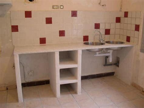 fabriquer sa cuisine en beton cellulaire et decoration cuisine rustique