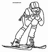 Coloring Pages Skiing Skier Clipart Colouring Supplies Clip Template 20supplies 20pages 20coloring Sports Clipground Printable Slalom Snow Theclipartwizard sketch template