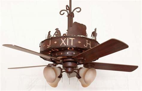 copper western trails ceiling fan rustic lighting