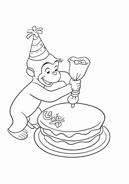 Curious George Coloring Printable Birthday Decorations Stimulate