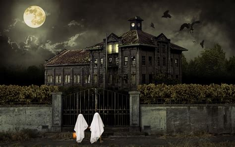 Halloween Scene Setters Sale by Halloween Scary House Wallpapers Hd Wallpapers