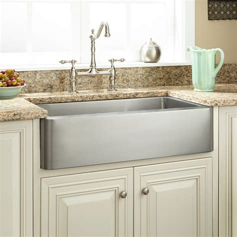 hazelton stainless steel retrofit farmhouse sink kitchen