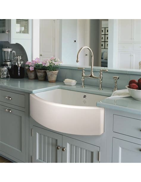 apron sink kitchen berlioz apron front single bowl overflow kitchen sink 1324