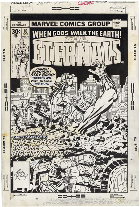 Gallery of Comic Art by Jack Kirby : The Eternals, Issue ...