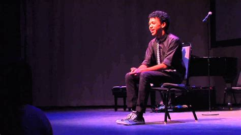 justice smith spoken theater monologue