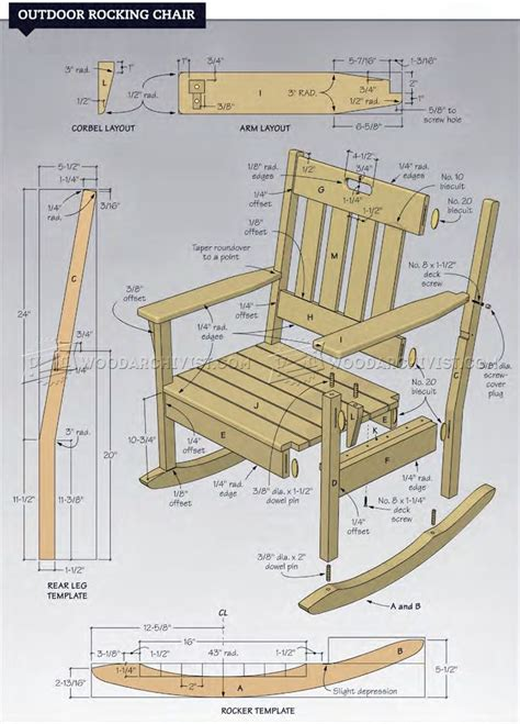 outdoor rocking chair plans outdoor furniture plans