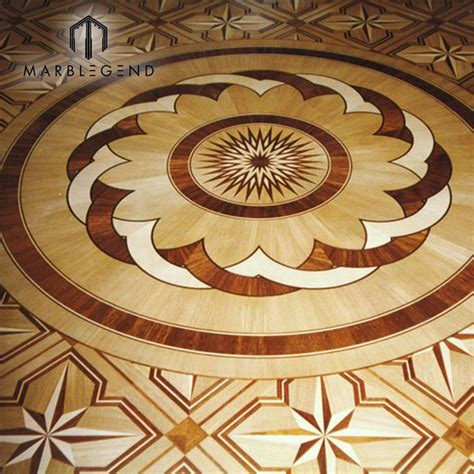 antique flowers engineered pattern medallion flooring wood