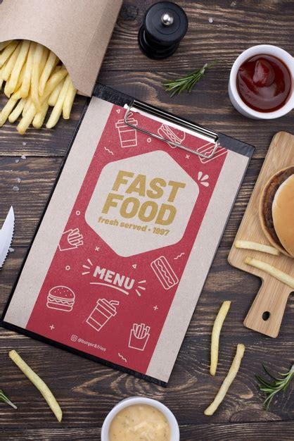 Cork drink coaster free psd mockups. Fast food menu concept mock-up   Free PSD File