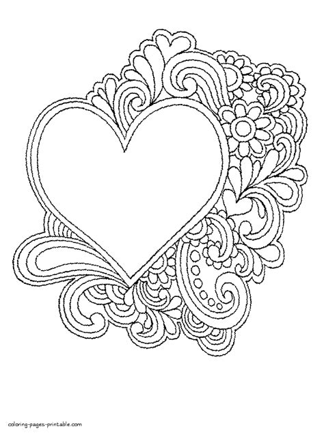 Free Printable Coloring Pages Of Hearts