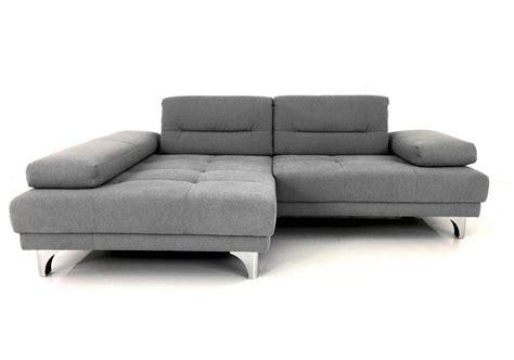 E.schillig Brand Iman Sofa Mit Longchair In Stoff Grau