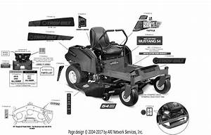 Troy Bilt 17cdcacw066 Mustang Xp 54  2017  Parts Diagram