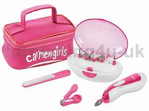 8 Piece Carmen Girls Personal Manicure Nail Clippers File