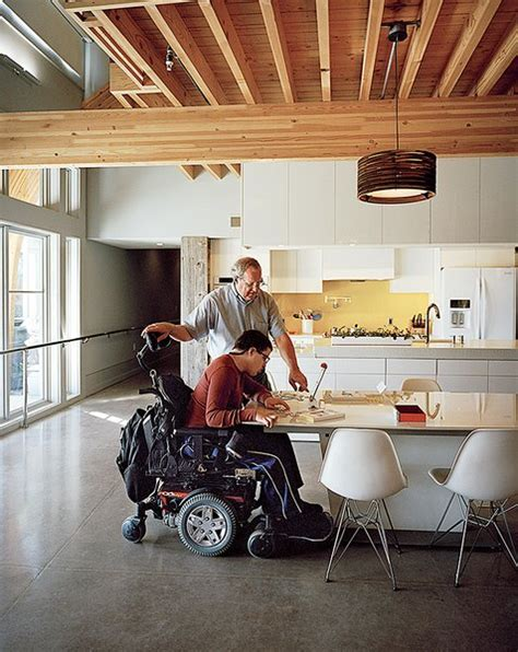 kitchen design for wheelchair user dwell this impressively accessible home has a tower that 7935